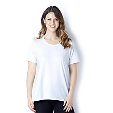 Denim & Co. Scoop Neck Curved Hem Top