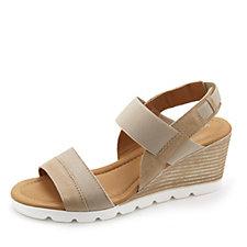 161852 - Easy'n Rose Wedge Sandal with Elastic Detail