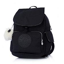 Kipling Premium Padded City Backpack with Monkey Key Charm
