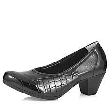 Vitaform Stretch & Croco Patent Leather Court Shoe