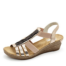 Rieker Wedge Sandal with Detail Panel