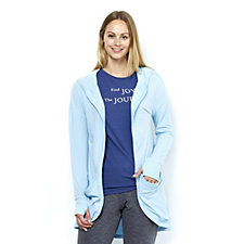 Anybody Loungewear French Terry Drape Front Jacket