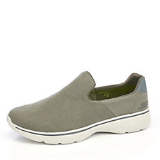 Skechers Men's GOwalk 4 Magnificent Distressed Canvas Slip On Trainer