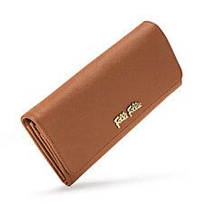 Folli Follie Dark Camel Foldable Leather Wallet