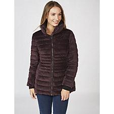 Centigrade Velvet Puffer Jacket