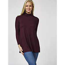 Yong Kim Roll Neck Swing Tunic with Side Splits