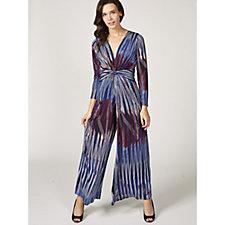 Leia Grace Print Long Sleeve Jumpsuit by Onjenu London
