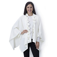 New Knitted Frill Trimmed Wrap by Nina Leonard