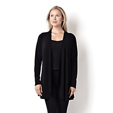 Kim & Co Stretch Crepe Long Edge to Edge Cardigan