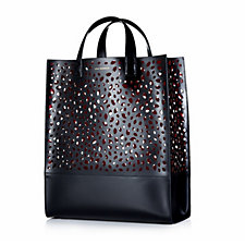 Lulu Guinness Thora Large Leather Cut Out Lip Tote Handbag