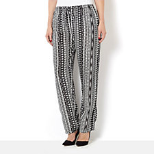 Artscapes Printed Trouser with Elasticated Drawstring Waist