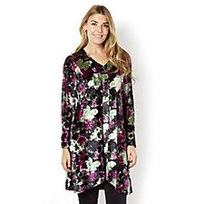 Printed Velvet Long Sleeve Jacket by Michele Hope