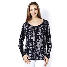 Betty & Co Graphic Print Long Sleeve Top