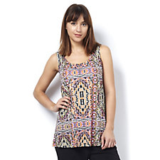 Together Jersey Aztec Print Vest