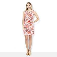 Ronni Nicole Paisley Print Sleeveless Shift Dress