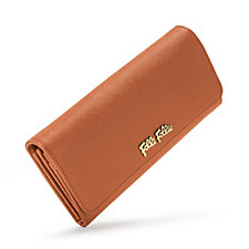 Folli Follie Brown Foldable Leather Wallet