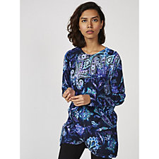 Isaac Mizrahi Live Long Sleeve Printed Top