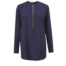 Trinny & Susannah Zip Front Round Neck Shirt
