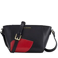Lulu Guinness Smooth Leather Abstract Lips Pixie Shoulder Bag