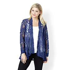 Symphony Lace Waterfall Cardigan by Michele Hope
