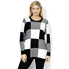 Absolutely Famous Patchwork Jumper with Side Slits