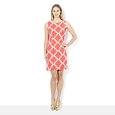 Ronni Nicole Diamond Print Sleeveless Shift Dress