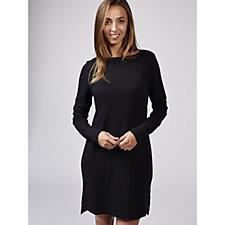 Anybody Cozy Knit Jersey French Terry Bateau Dress