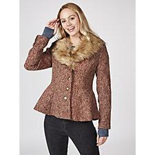 Joe Browns Fabulous Faux Fur Collar Coat