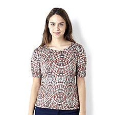 Trinny & Susannah Printed Ruched Top