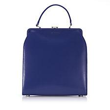 Lulu Guinness Eva Medium Polished Leather Shoulder Bag