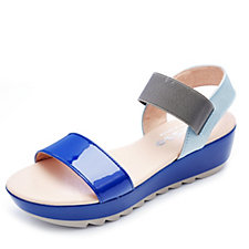 Adesso Kennedy Patent Wedge Sandal