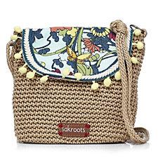 The Sakroots Artist Circle Flap Crochet Crossbody Bag