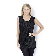 Animal Foil Top Frill Hem by Michele Hope