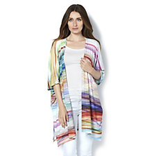Join Clothes Edge to Edge Graphic Line Print Cardigan