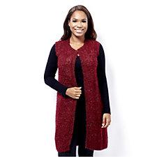 Absolutely Famous Marled Eyelash Knit Lurex Waistcoat