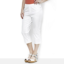 163355 - H by Halston 5 Pocket Cropped Studio Stretch Pull On Trousers Petite