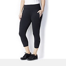 Purelime Deep Waistband Activewear Capri Trousers