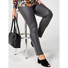 Kim & Co Croco Pleather Slim Leg Trousers Regular Length