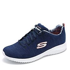 Skechers Ultra Flex First Choice Heathered Jersey Lace Up Shoe