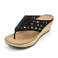 Skechers Beverlee Dazzled Cutout Wedge Sandal