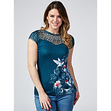 Joe Browns Lace Detail Printed Top