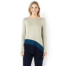Long Sleeve Colourblock Tunic by Nina Leonard