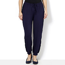 Fashion by Together Jersey Trouser with Lace Trim