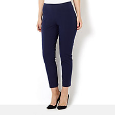 Isaac Mizrahi Live Stretch Pull on Ankle Trousers