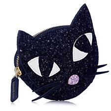 Lulu Guinness Kooky Cat Glitter Coin Purse