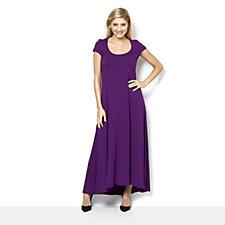 Join Clothes Jersey Cap Sleeve Maxi Dress