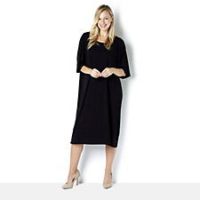 Join Clothes Scoop Neck Kimono Sleeve Dress