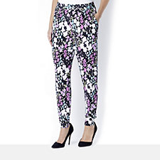 Tapered Leg Relaxed Print Trousers by Michele Hope