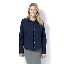 Women with Control Twill Button Through Jacket