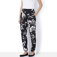 Nick Verreos Printed Elasticated Waist Relax Fit Trouser